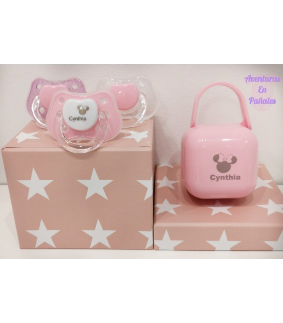 PACK CHUPETES ROSA
